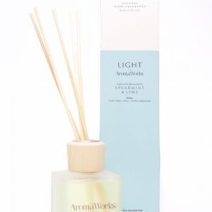 Aromaworks light spearmint lime reed diffuser