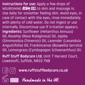 Ruff Stuff Nourishing Body Oil Ingredients