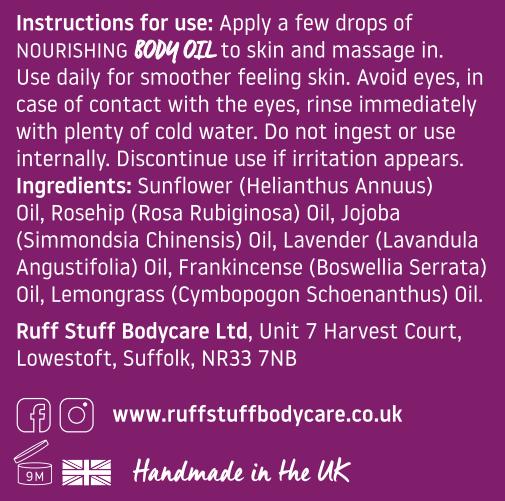 Ruff Stuff Nourishing Body Oil Ingredients