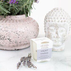 aromaworks petitgrain lavender candle