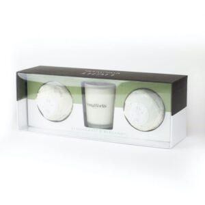 Aromaworks Lemongrass Bergamot Mini Bomb Duo Candle Kit